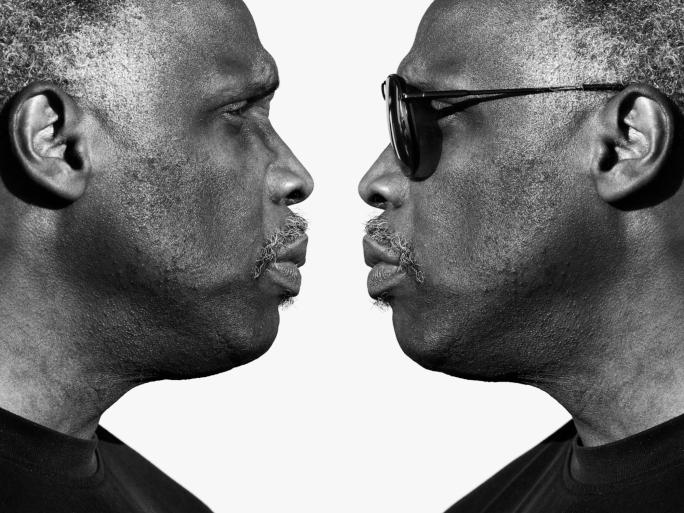 man twin reflection