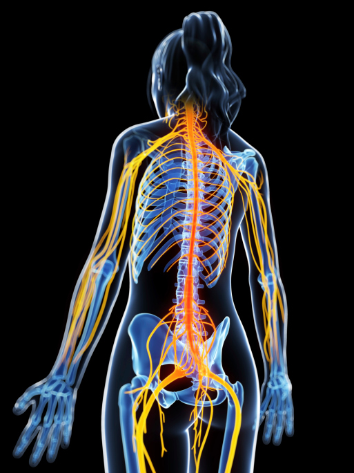 woman painful nerves
