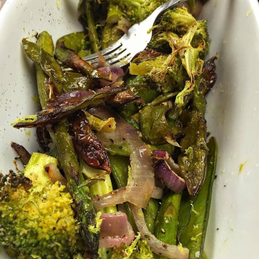 roasted green veggie bowl
