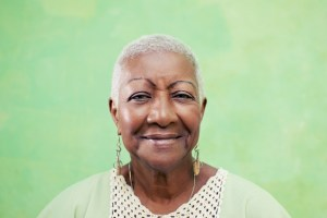 portrait of senior black woman