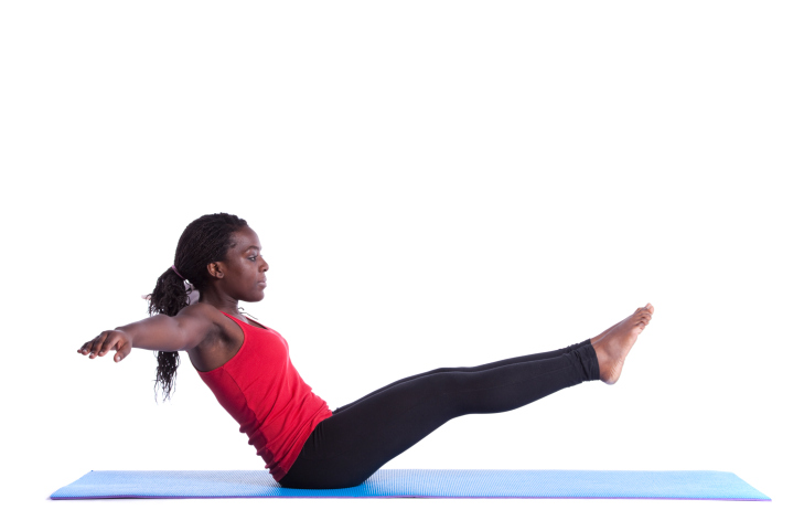 black woman pilates