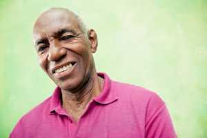 senior man smiling