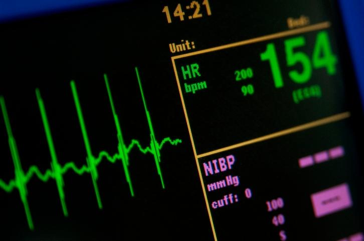 Heart monitor measuring vital signs.