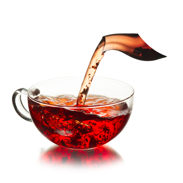 tea pouring in cup