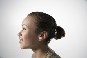 side profile of african american woman