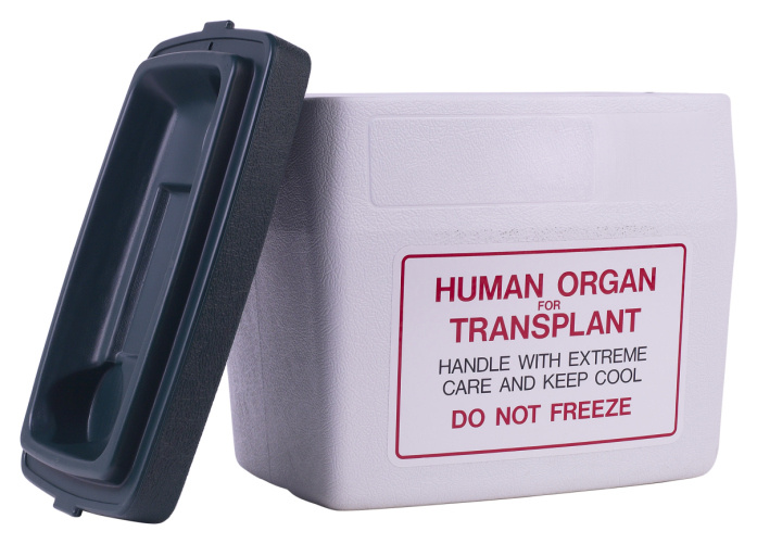 organ transplant box