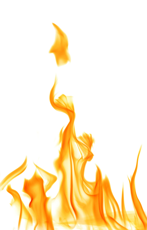 yellow fire flame