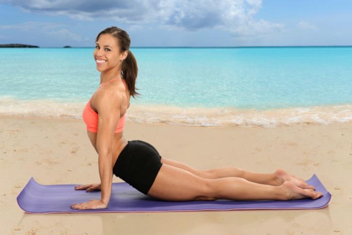 woman yoga updog