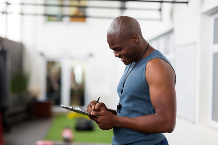 African American Black male personal trainer