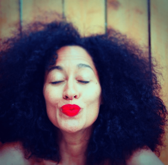 tracee ellis ross red lip