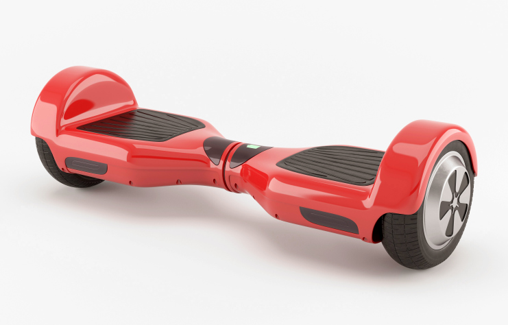Two wheel electric self-balancing scooter. Red