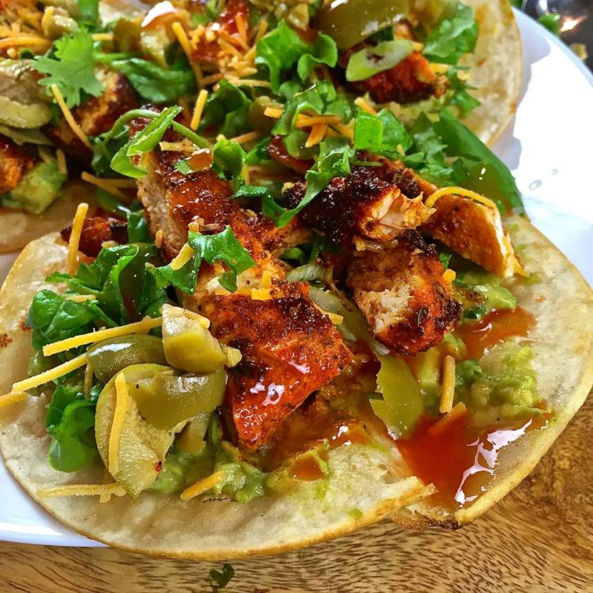 smokey chicken tacos