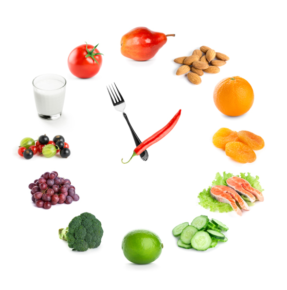healthy food clock