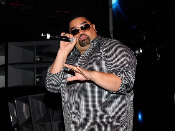 """LAS VEGAS, NV - JUNE 15: Heavy D performs onstage during the BACARDI """"Like It Live"""" Las Vegas event with Cee-Lo Green, Travis Barker and Mix Master Mike held at the Marquee Nightclub at The Cosmopolitan of Las Vegas on June 15, 2011 in Las Vegas, Nevada. (Photo by Ethan Miller/Getty Images for Bacardi)"""