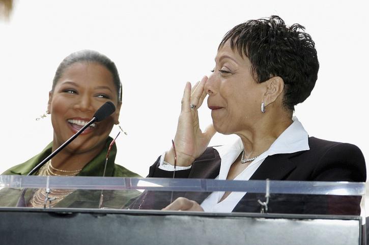 Queen Latifah with mother Rita Owens