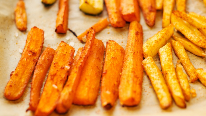 oven baked carrot fries
