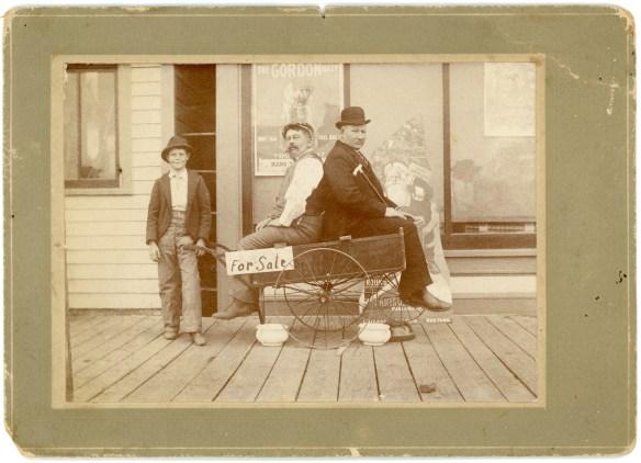 1910 ?- Joseph & friend in cart