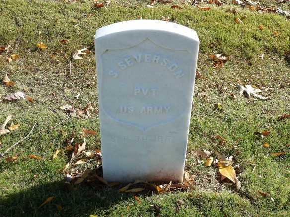 S Severson headstone