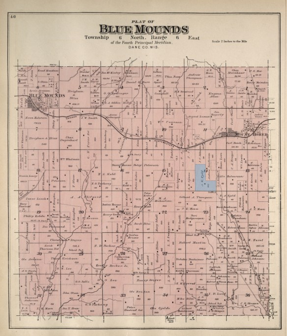 Blue Mounds plat 1890