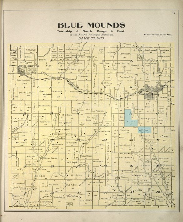 Blue Mounds plat 1899