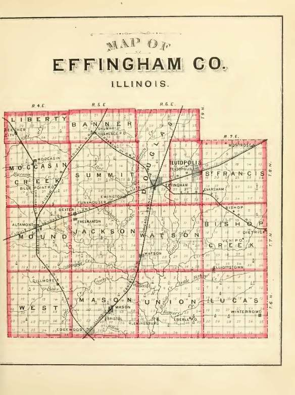 1883 map of Effingham County
