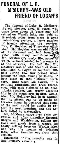 Luke McMurry obituary 1913-05-03