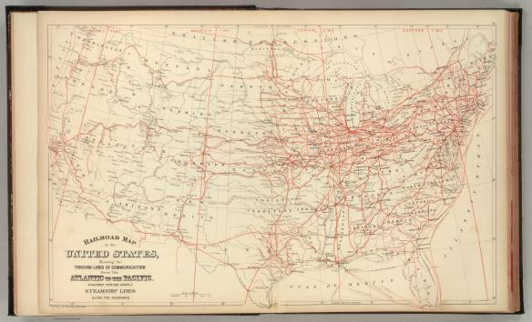 Railroad map of 1884
