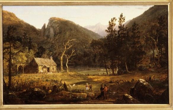 1858: Jasper Francis Cropsey (1823–1900), oil on canvas, Eagle Cliff Franconia Notch New Hampshire