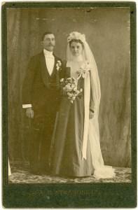 1893- Wedding of Frank Scott & Margaret McAllister