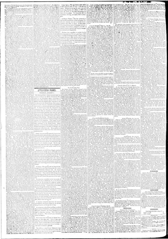 New York Post, 1 Aug 1826 page 2 (1)