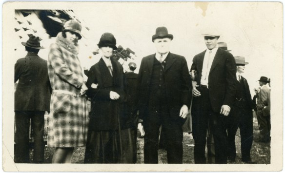 1927- Chester William Eddy, his wife, his grandson Manfred and wife Hope