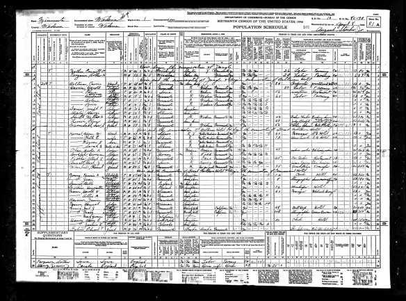 1940UnitedStatesFederalCensusForCommercialHotel1