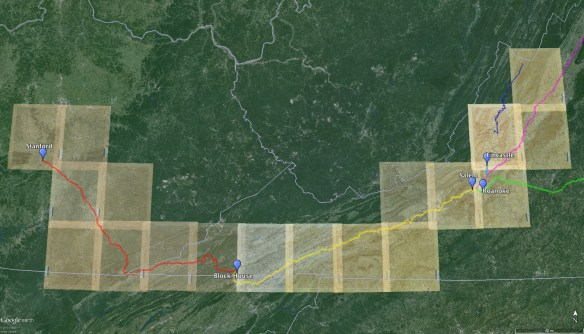 Route with USGS overlays
