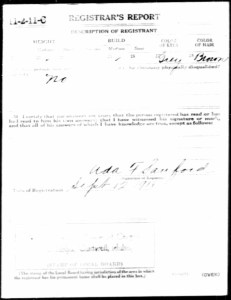 FR McMurry WWI draft reg 2