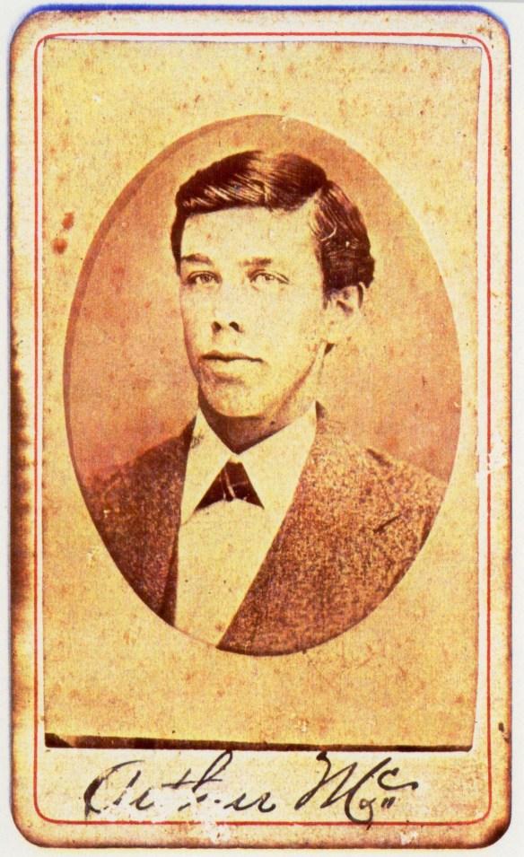 Photo of Arthur Webster McMurry, circa 1872