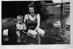1945?- Dorothy & Keith in water