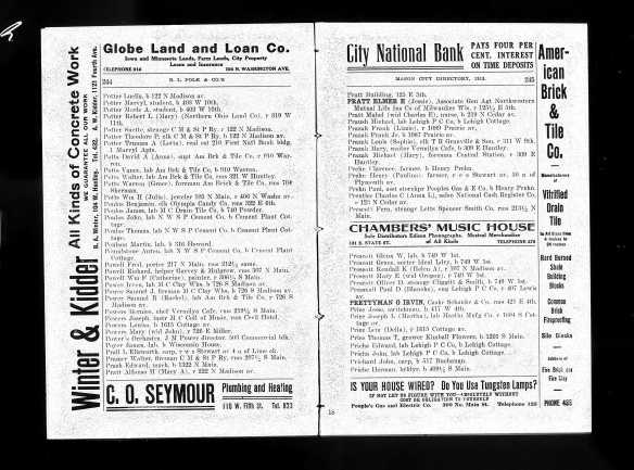 1913 G. Irvin Prettyman directory