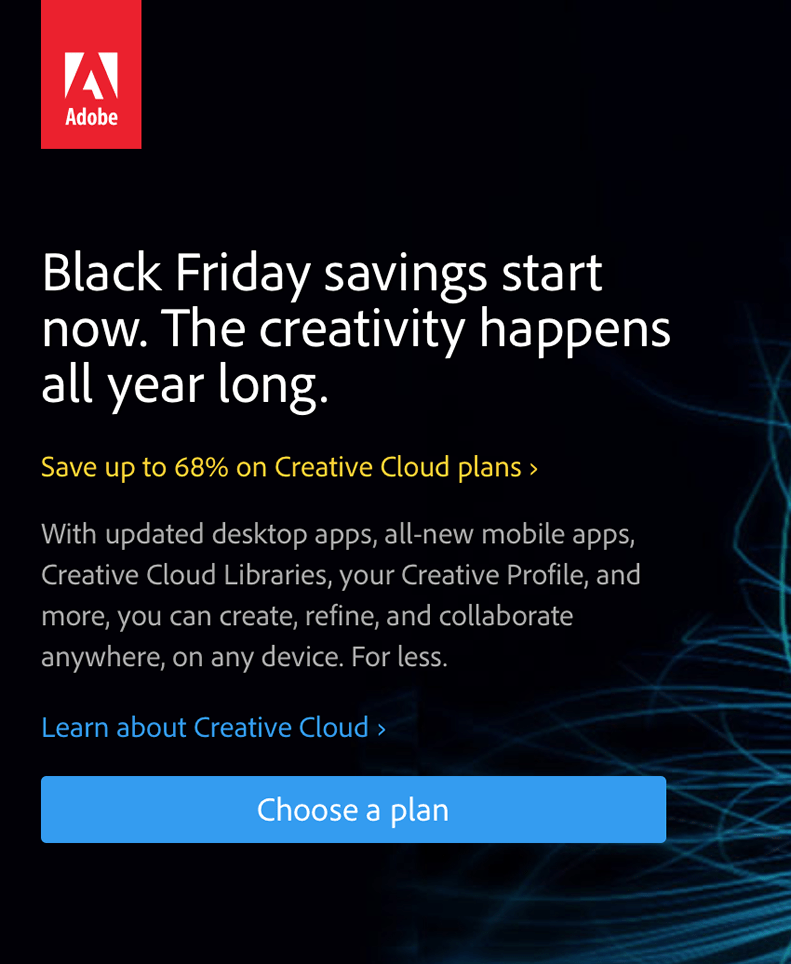 Adobe Black Friday 2017 Sale & Deals | Blacker Friday!