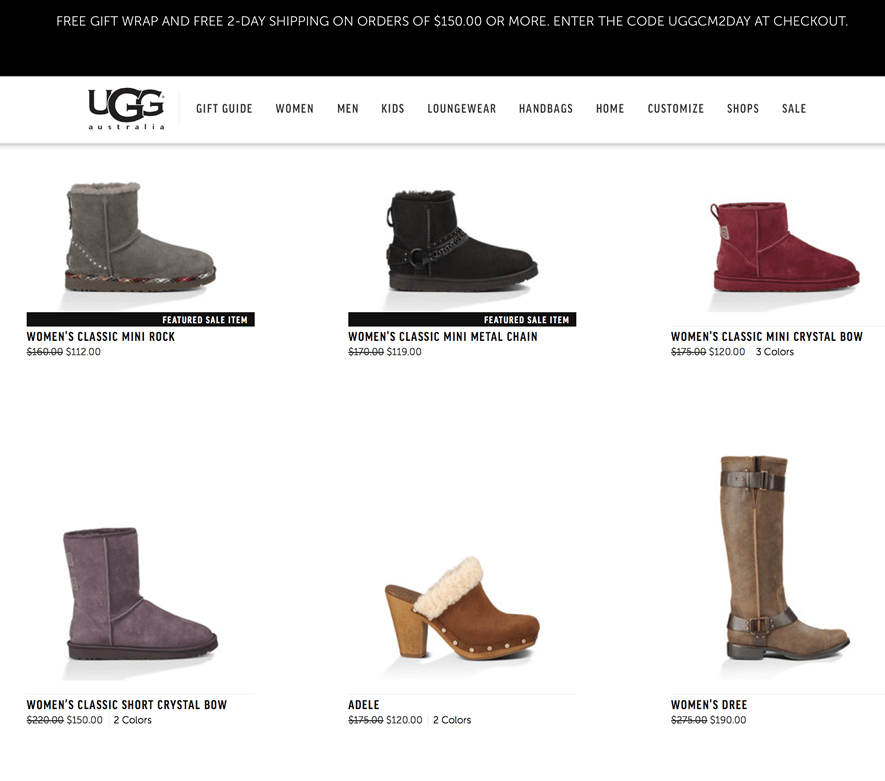 Uggs Boots Cyber Monday