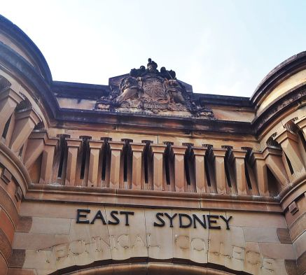 The entrance to the Old Darlinghurst Gaol - now the National Art School