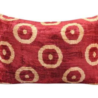 Silk Velvet Ikat Pillow