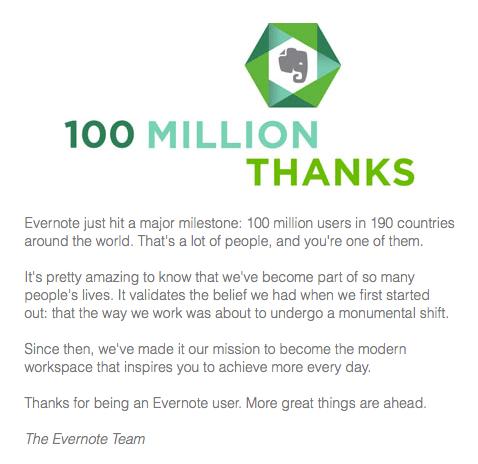 Evernote 100M