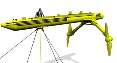 Floating Horizontal Axis Tidal Turbine Scotrenewables