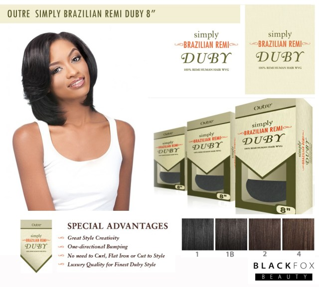 "details about outre simply 100% brazilian remi human hair weave duby 8"" 1, 1b, 2, 4"
