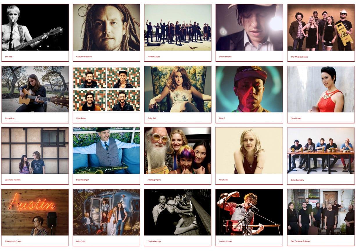 2014 Artists
