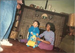 BGIM 20 years ago with college boy.