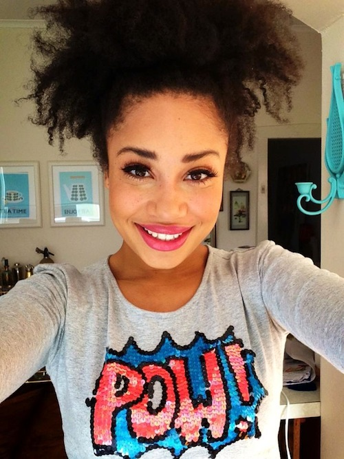 Olivia 4B Natural Hair Style Icon Black Girl With