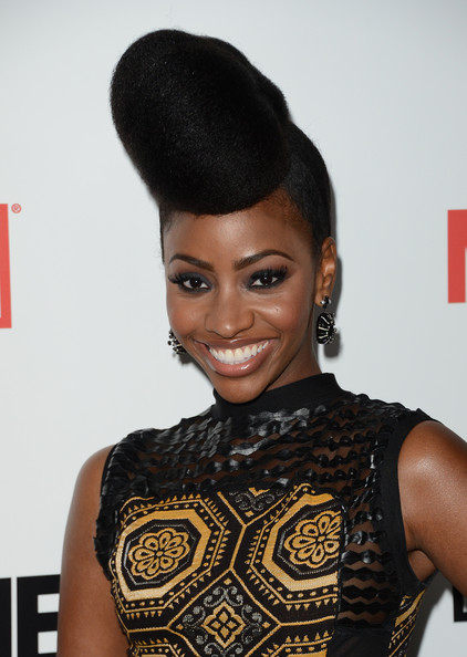 Teyonah Parris Rocks Gorgeous Updo At Mad Men Premiere Party  Black Girl With Long Hair-5373