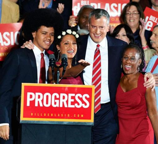 bill-de-blasio-celebrates-mayoral-victory