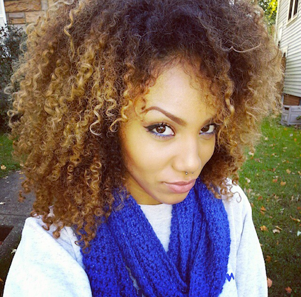 alyssa // 3c natural hair style icon  black girl with